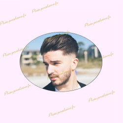 Photo porcelaine ovale horizontal - Médaillon photo couleur HOMME
